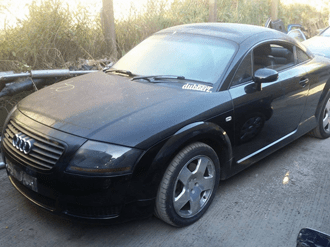 Audi TT submitted for scrap in Preston