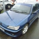 Blue Peugeot in Lancashire for breaking spare parts