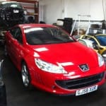 Red Peugeot