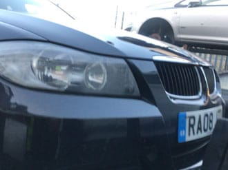 BMW submitted for scrap in Preston