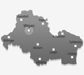 Wigan map