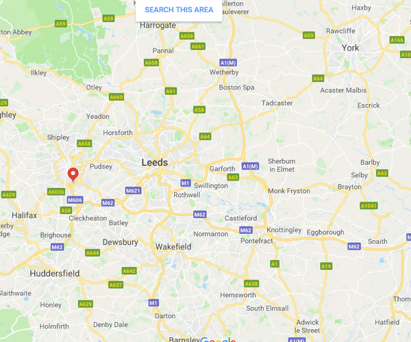 Map of Yorkshire where we will pick up scrap cars