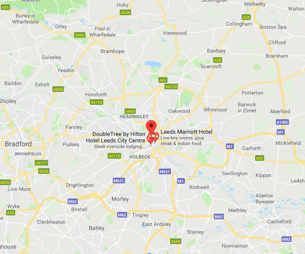 Map of Leeds where we will pick up scrap cars