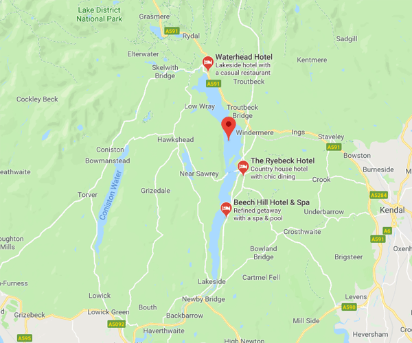 Map of WIndermere where we will pick up scrap cars