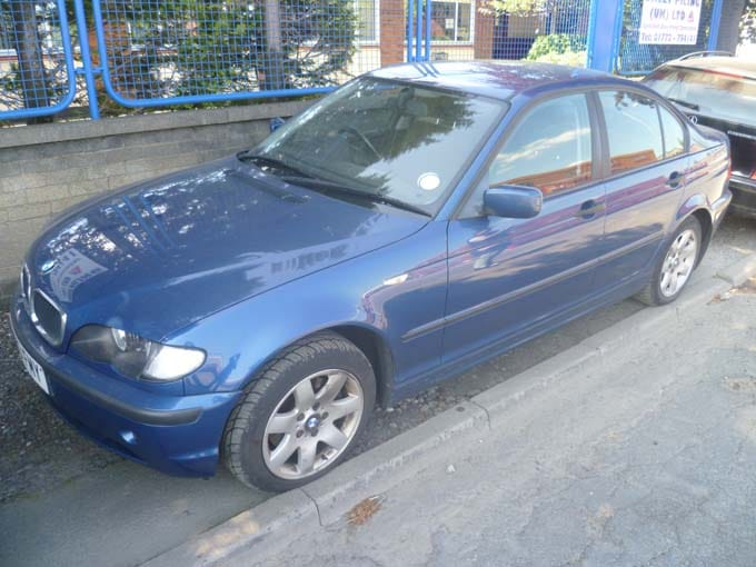 Blue BMW from Southport scrap car
