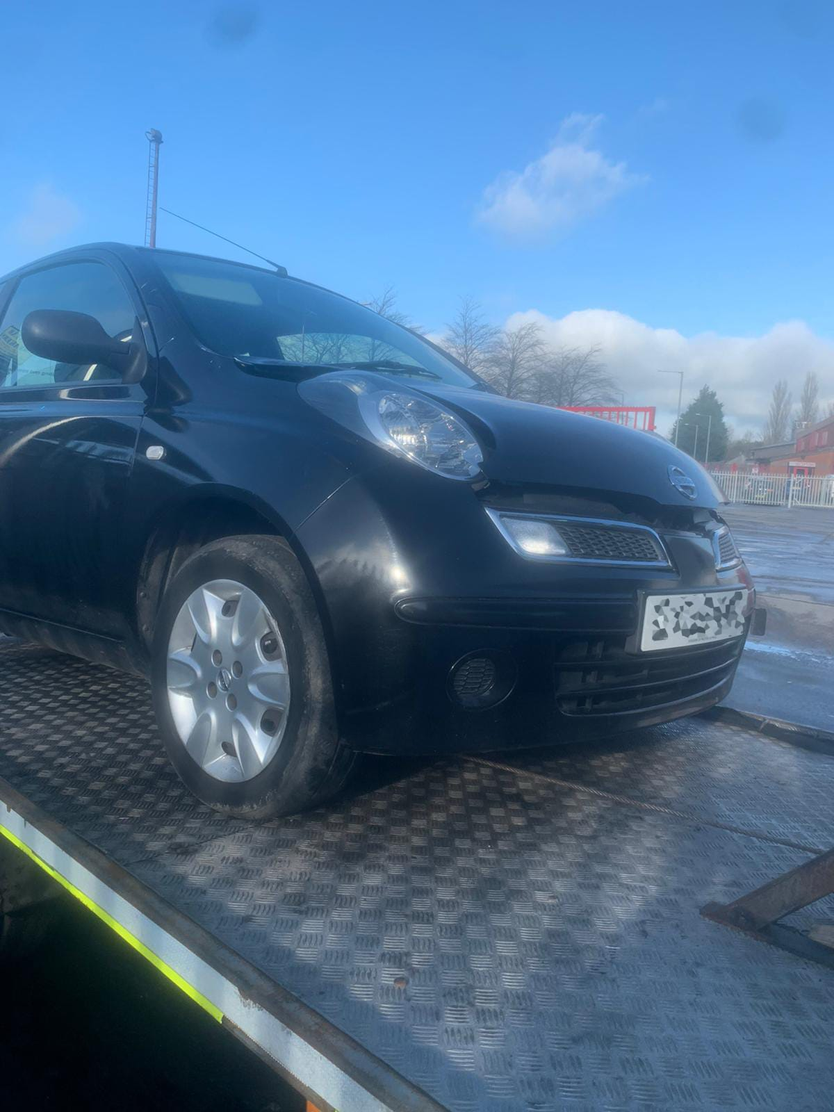 Nissan Micra scrap delivery from Darwen