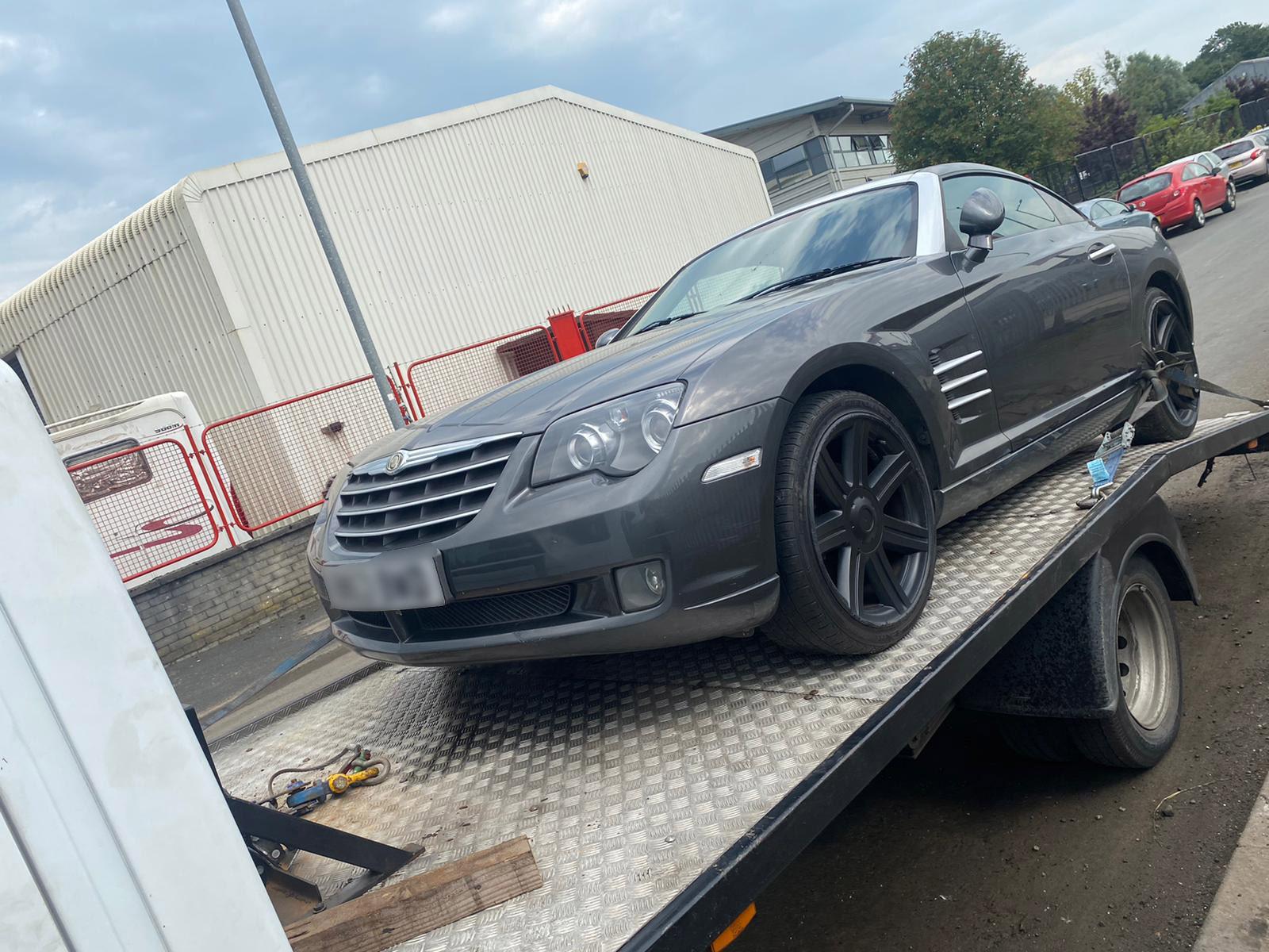 Chrysler for scrap being delivered in Preston